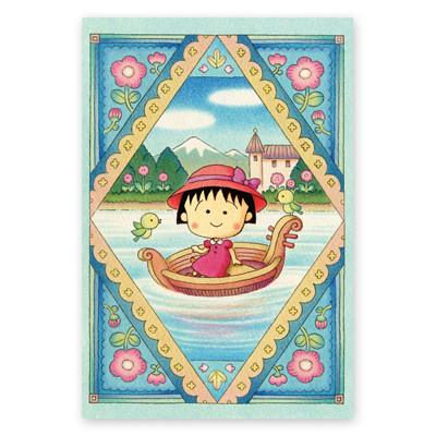 ちびまる子ちゃん原作デザイン ポストカード「小舟に乗ったまる子」 商品画像