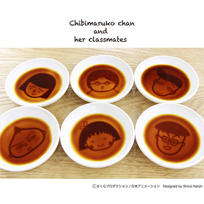ちびまる子ちゃん しょう油皿「まる子」「たまちゃん」「永沢君」「花輪クン」「丸尾君」「野口さん」 商品画像