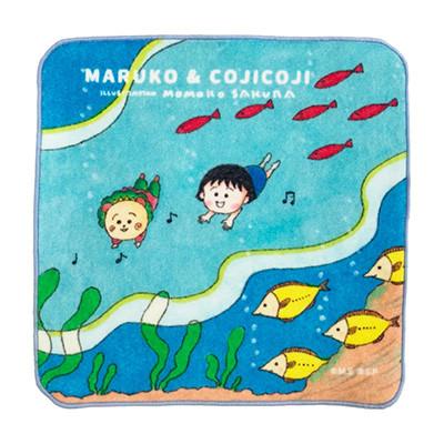 プチタオル おやすみ・まるコジ虹・海の中・まる子とコジコジ・ゆらゆら 商品画像