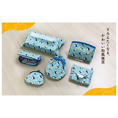 和風ティッシュポーチ(まるコジ海) 商品画像