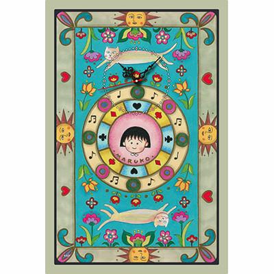 ちびまる子ちゃん扉絵デザイン壁掛け時計 商品画像