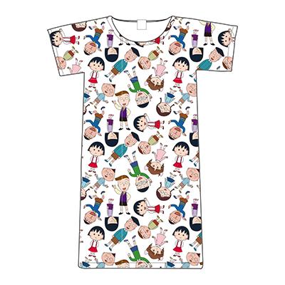 ちびまる子ちゃん Tシャツ 総柄(キッズ100.120)M・L、ロングTシャツ 総柄 商品画像